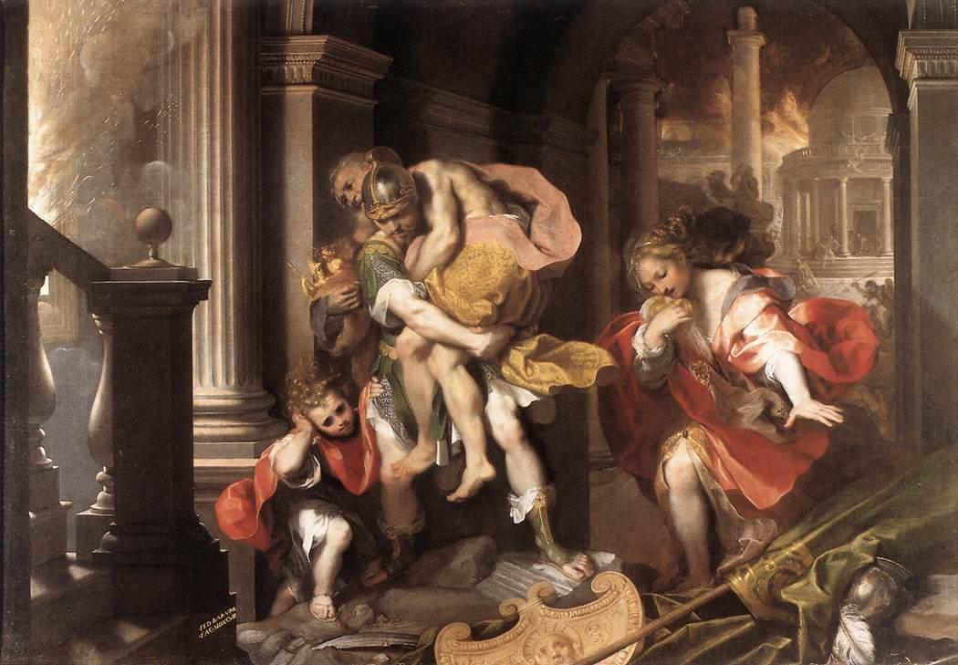 griesche götter schlacht gemälde