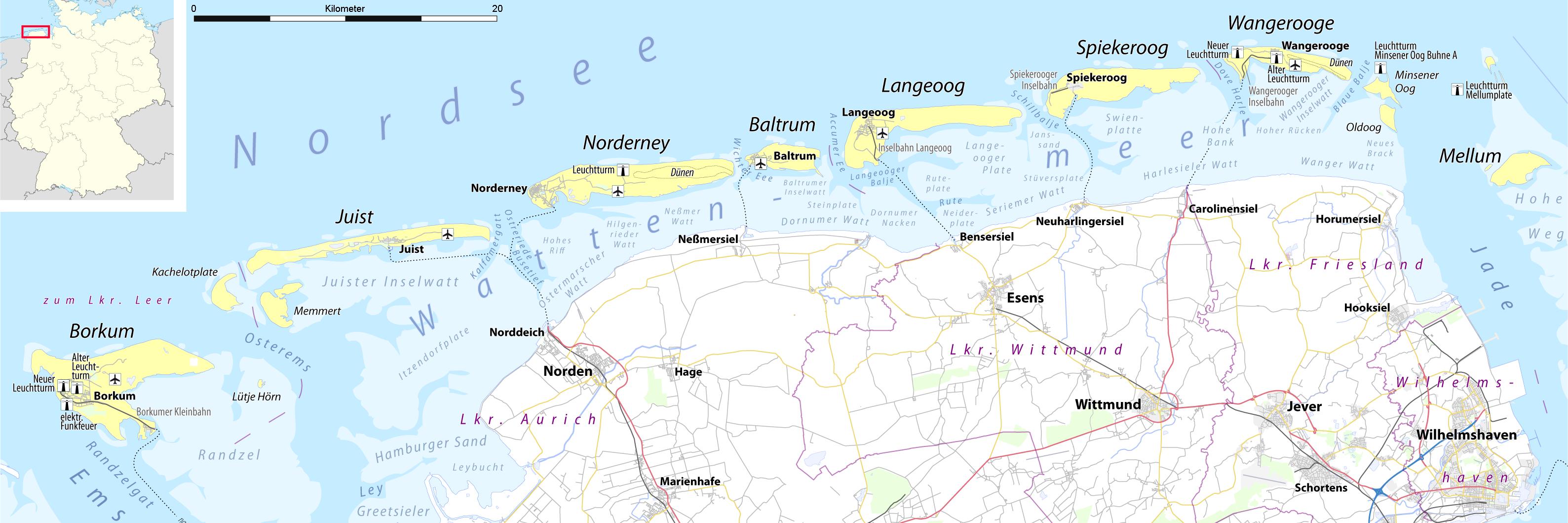 Borkum Karte Strassen.Die Nordseeinsel Borkum Inselinformationen