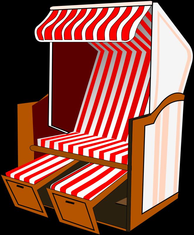 Strandkorb comic  Die Nordseeinsel Borkum